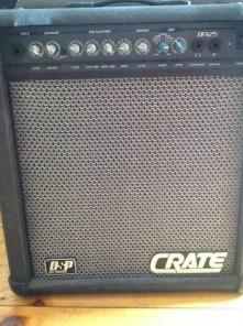 Electric Bass Guitar & Crate Amp plus Accessories